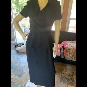 long button dress